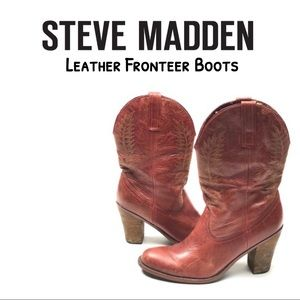 (Update)👢STEVE MADDEN Fronteer Cowboy Style Boots